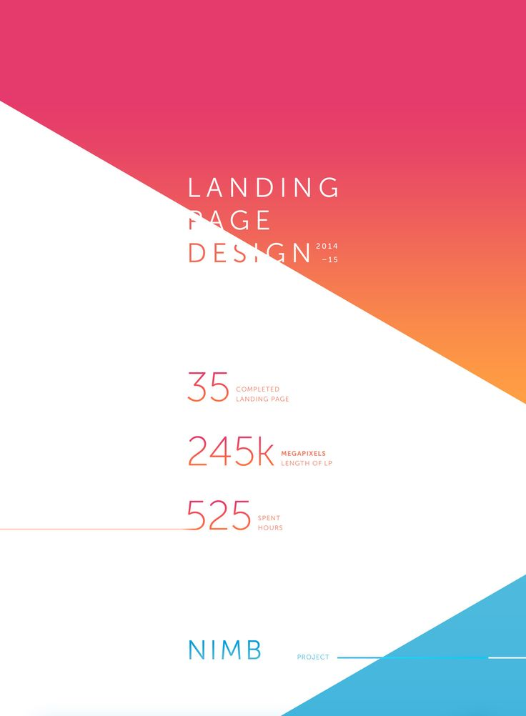 A selection of my designs Landing pages for 2014 – 2015