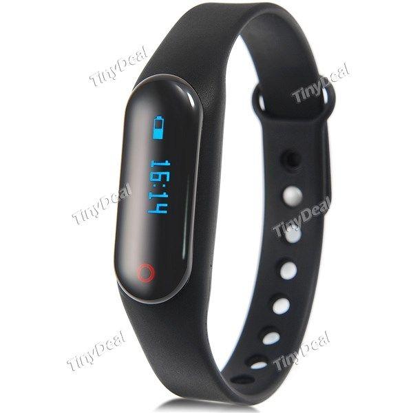 Pequeña Negra Smart Pulsera Podómetro Sleep Monitor Rastreador de Deportes Marcación SMS SNYC Smart Desbloqueo Alarma E-476752