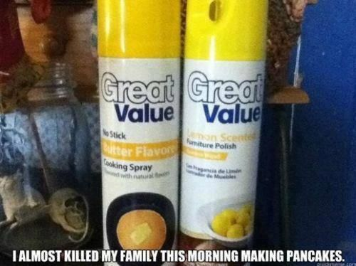 who needs a marketing department?: Laughing, Skull, Cooking Sprays, My Families, Pancakes, Funny Stuff, Walmart, Funnystuff, Health Fit