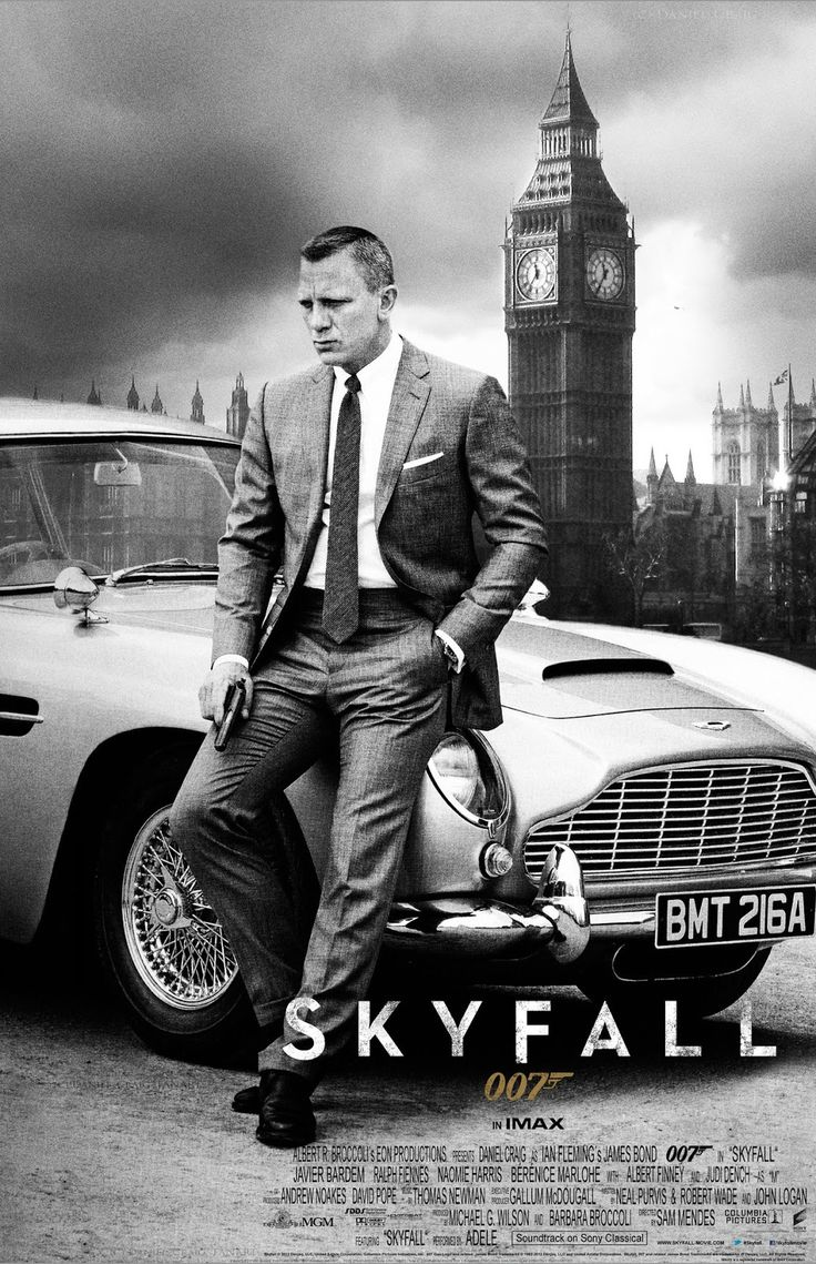 Skyfall is the twenty-third James Bond film produced by Eon Productions. It was distributed by MGM and Sony Pictures Entertainment. It features Daniel Craig in his third performance as James Bond, and Javier Bardem as Raoul Silva, the film's antagonist. It was directed by Sam Mendes and written by Neal Purvis, Robert Wade and John Logan, and features an Academy Award-winning theme sung by Adele.