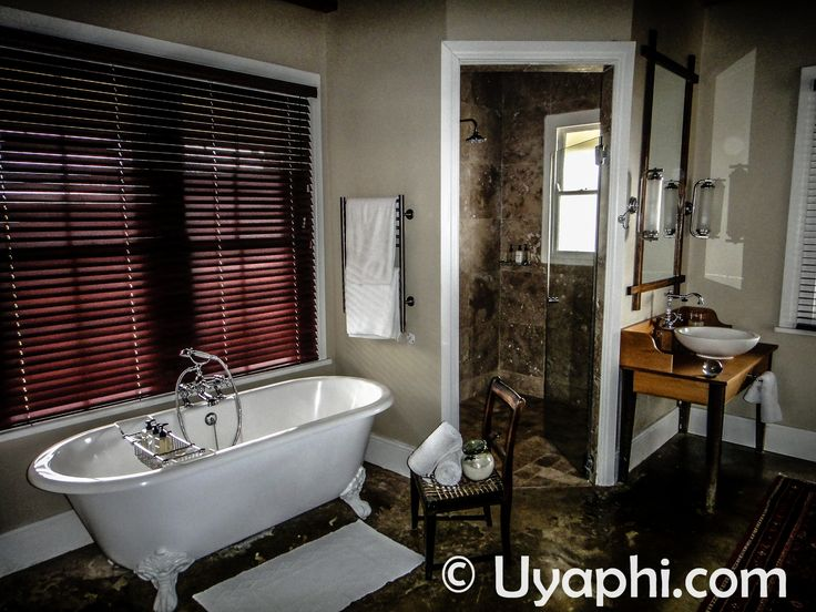 Bathtime in the Samara Game Reserve, eastern Cape of South Africa, just promise me you will open those blinds. http://www.uyaphi.com/south-africa/lodges/samara-game-reserve.htm