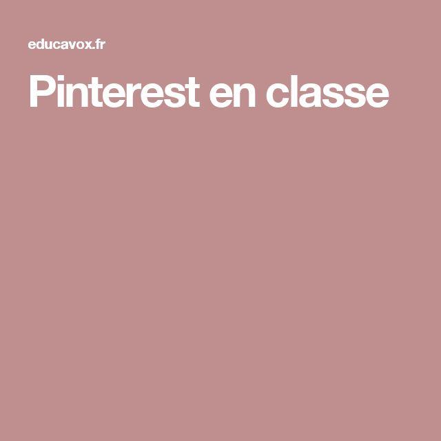 Pinterest en classe