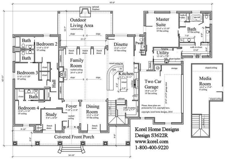 25+ best four bedroom house plans ideas on pinterest | one floor