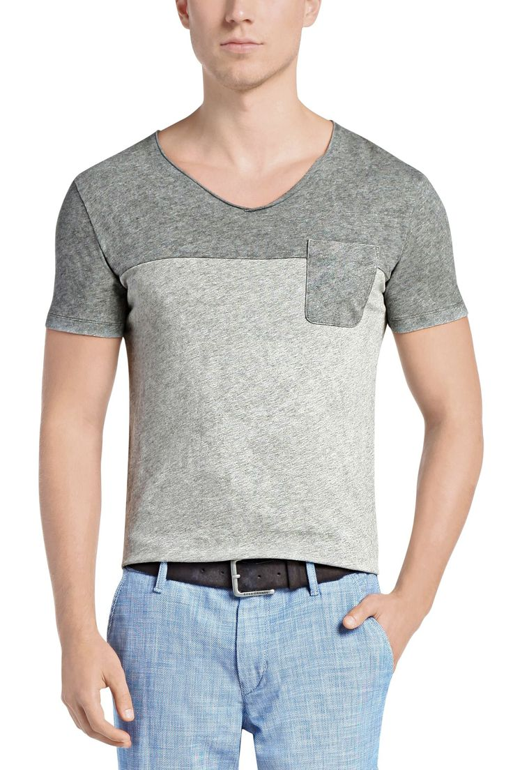 Camiseta regular fit en dos colores: 'Tedman', Gris claro