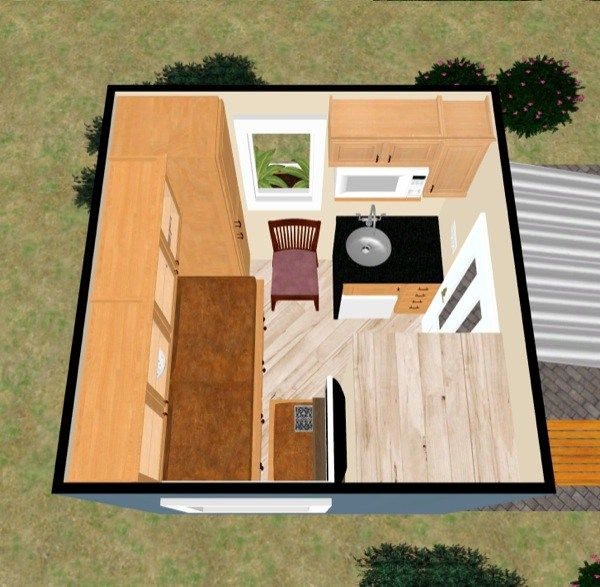 8 8 Tiny House Design By Kevin Tiny House Design Tiny Cabin Plans Tiny House