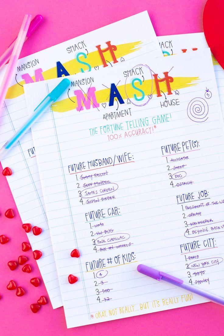 MASH Printables! | studiodiy.com