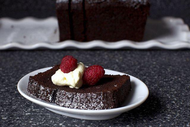 everyday chocolate cake + cream + raspberries by smitten, via Flickr ...