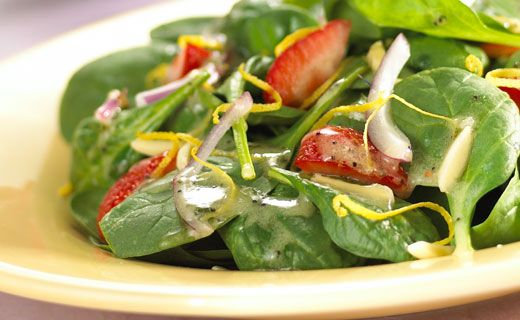 Epicure's Spinach and Strawberry Salad