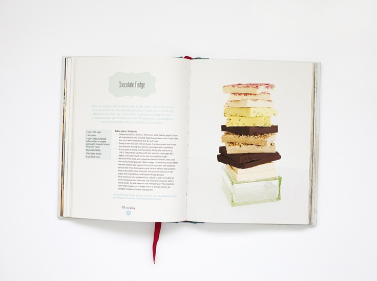 Beautiful layout from the Little & Friday Cookbook