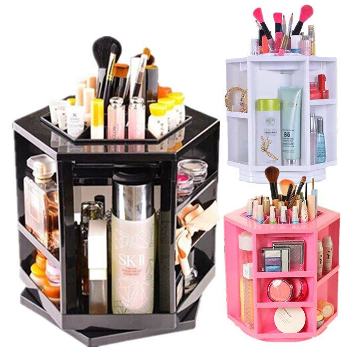 Spinning 360 Degree Rotating Assembly Spinning Rack Cosmetics Organizer Makeup Tower by ACRYLICBOXES on Etsy https://www.etsy.com/listing/231726017/spinning-360-degree-rotating-assembly