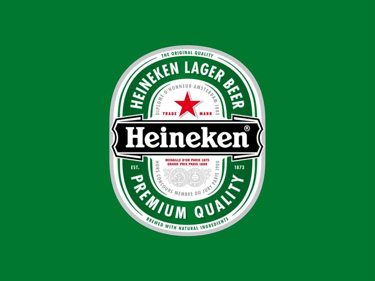 Heineken Lager Beer, or simply Heineken, is a pale lager beer with 5% alcohol by volume produced by the Dutch brewing company Heineken International. Heineken is well known for its signature green bottle and red star.