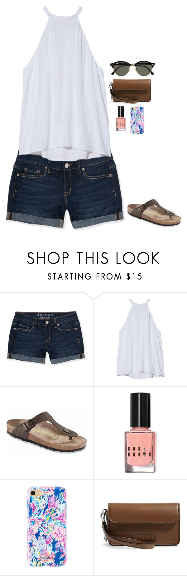 """""""pi"""" by whowho01 on Polyvore featuring Aéropostale, A.L.C., Birkenstock, Bobbi Brown Cosmetics, Lilly Pulitzer, Vera Bradley and Ray-Ban"""