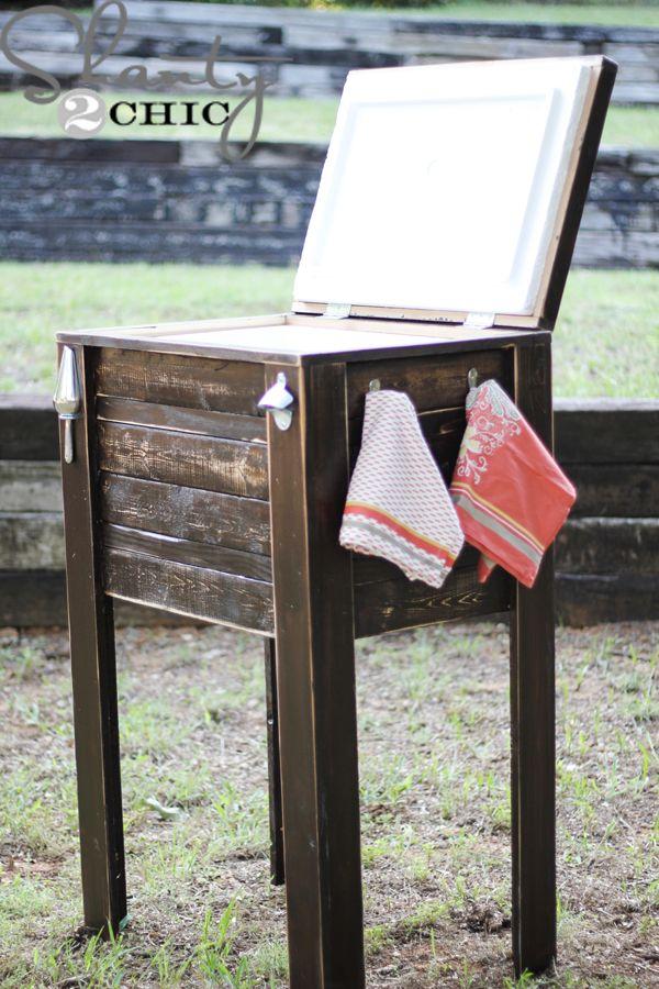 Diy cooler outdoor spaces pinterest for Diy patio cooler