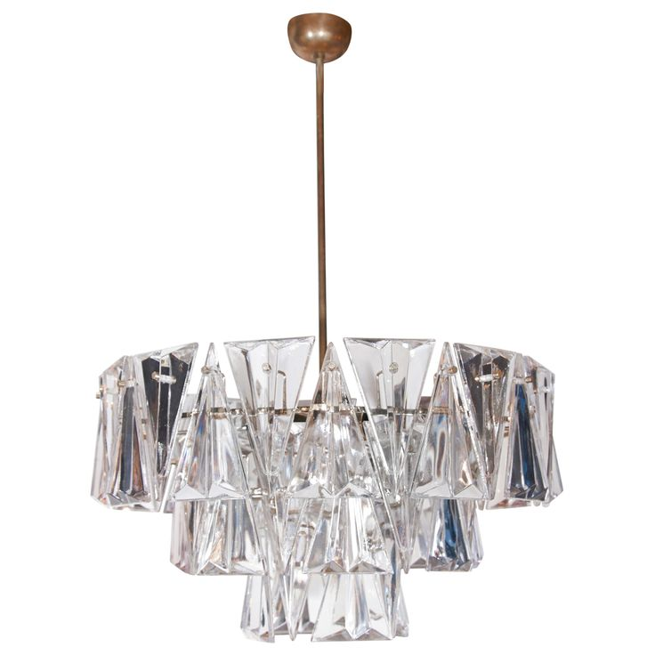 1940s cut crystal 3 tier chandelier from a unique collection of antique and modern chandeliers and pendant lighting