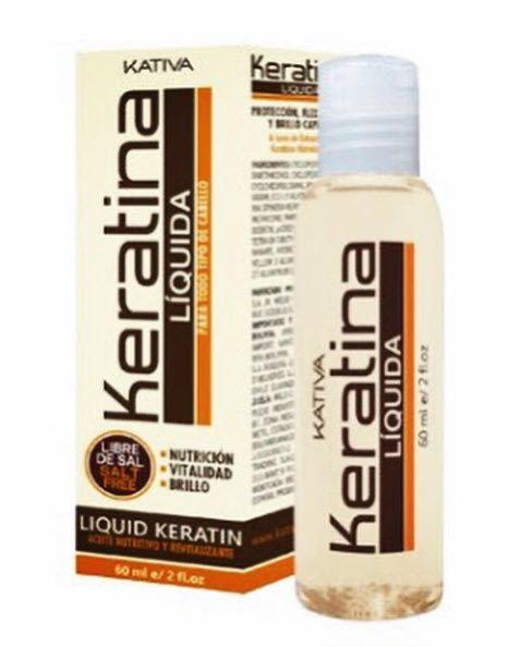 La keratina liquida de Kativa es un compuesto de extracto de keratina hidrolizada libre de sal, que crea una película protectora sobre el cabello, aportando suavidad y brillo al mismo, tonificándolo y nutriéndolo internamente, ayudando a reconstruir la estructura interna de la fibra capilar, devolviendo al cabello cuerpo y brillo natural.