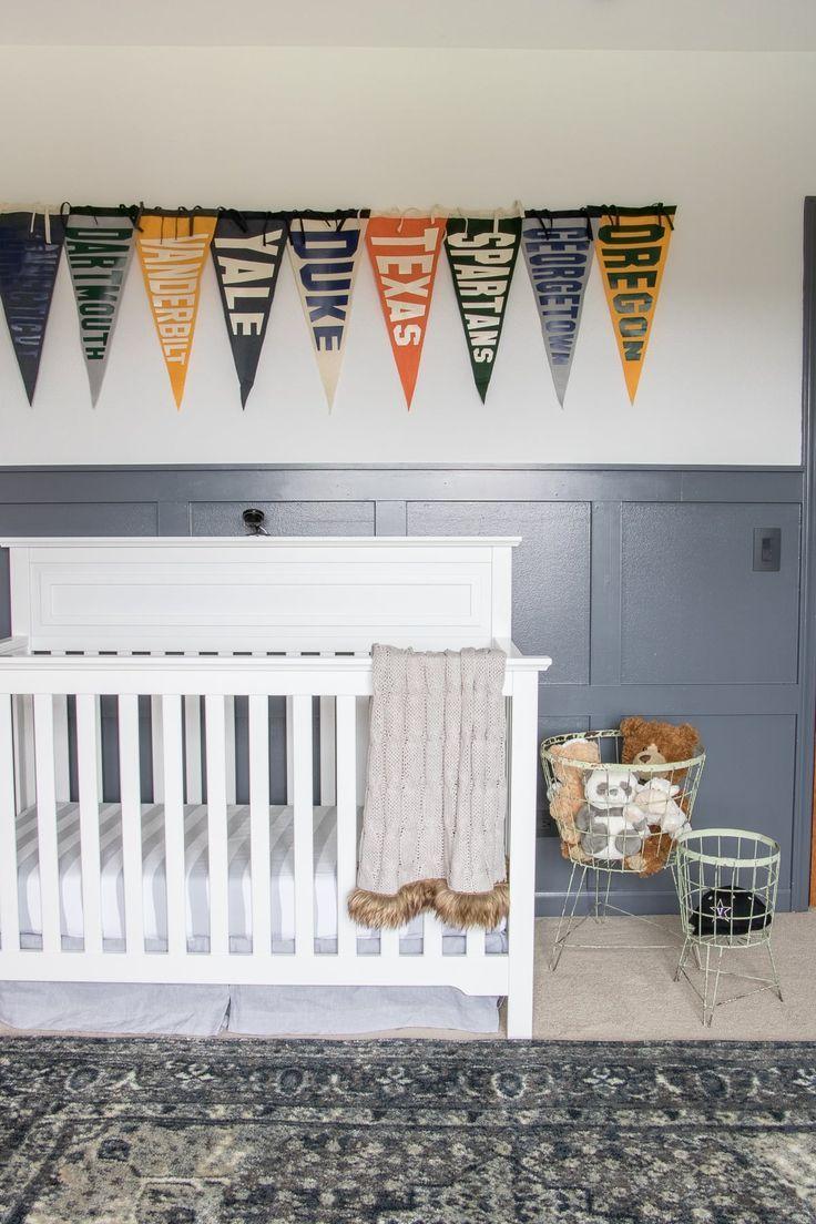 vintage sports nursery - orc reveal - | nursery room ideas | vintage