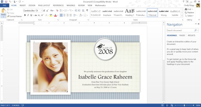 Microsoft's Best Templates for Honoring Graduates: Graduation Announcement Template or Printable with Photos for Microsoft Word