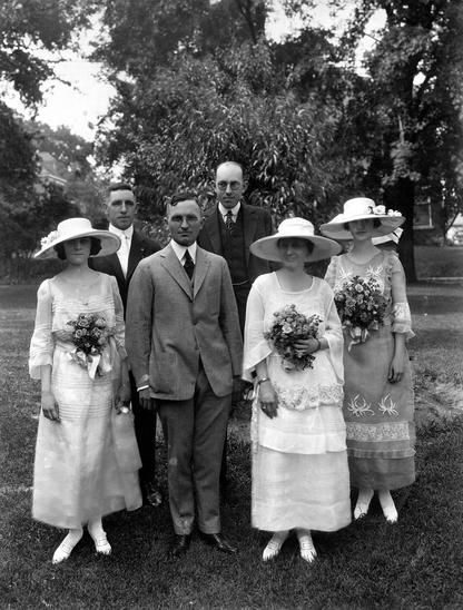 Harry and Bess Truman Wedding Party  june 28, 1919