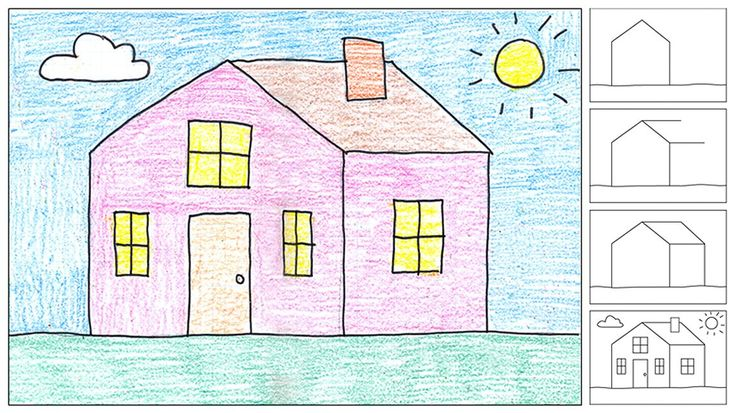Art Projects for Kids: How to Draw a House