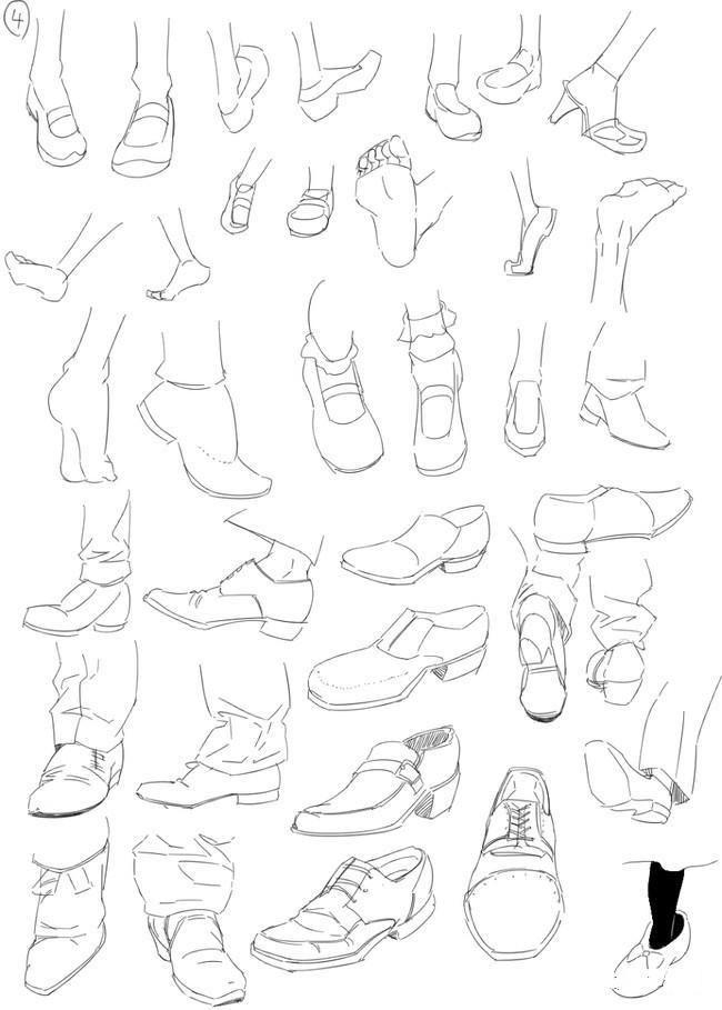 动漫人物鞋子参考】一网打尽全种类的鞋~(附素材下载)