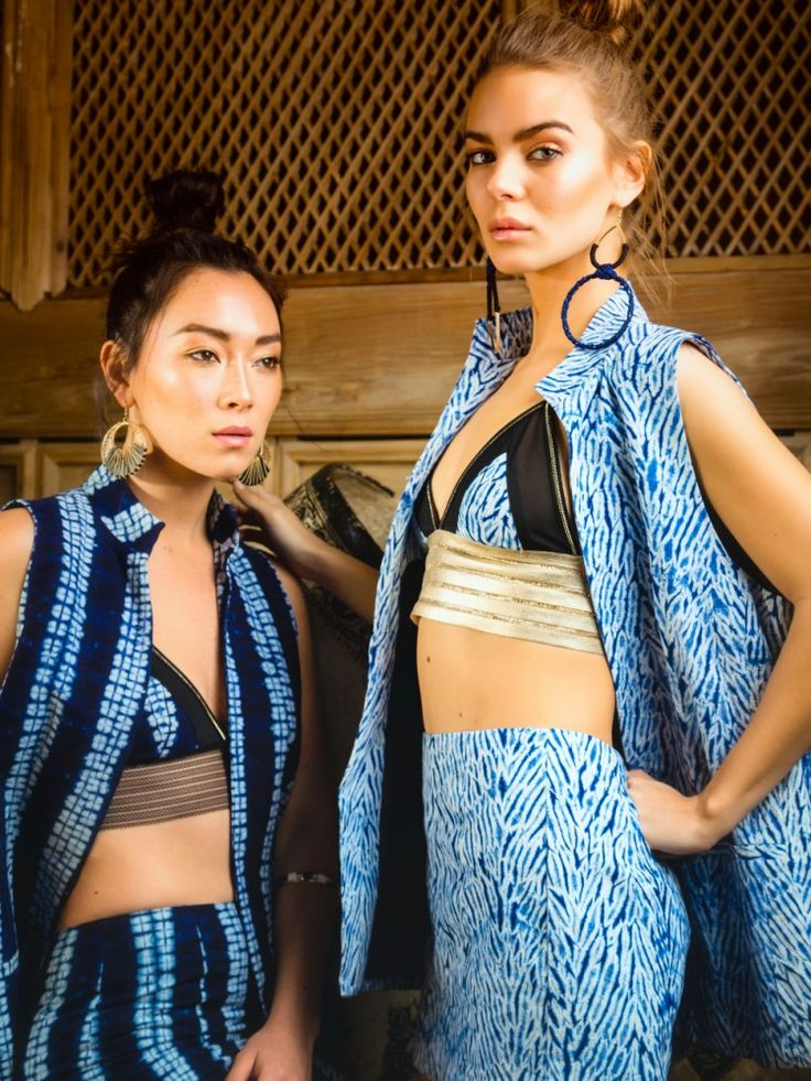 artisan made fabrics high end fashion erhai lake sleeveless blazer cangshan mini moon shadow bralette