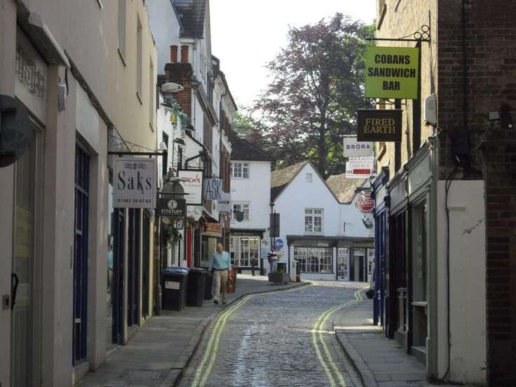 We love the winding road leading up to the Brora shop in Guildford,