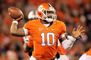 Clemson quarterback Tajh Boyd is picking Texas A&M over Alabama