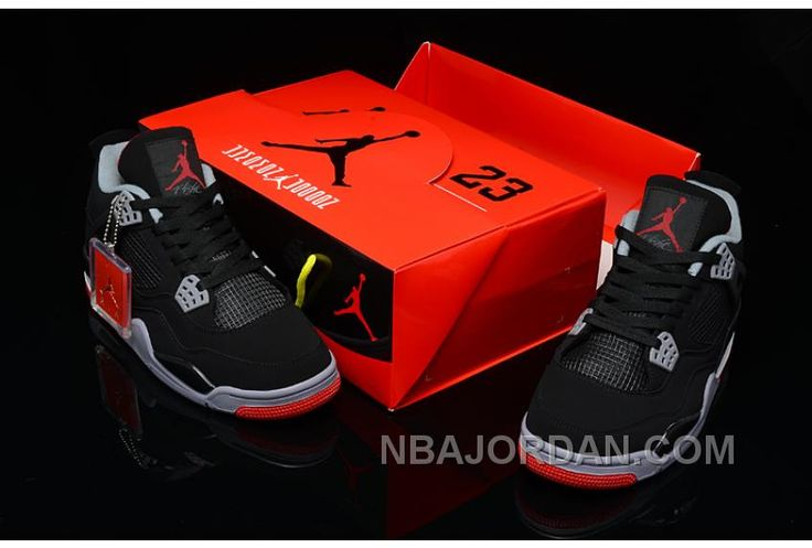 Online Hot Nike Air Jordan 4 2013 Retro Black Orange Blaze-Old R