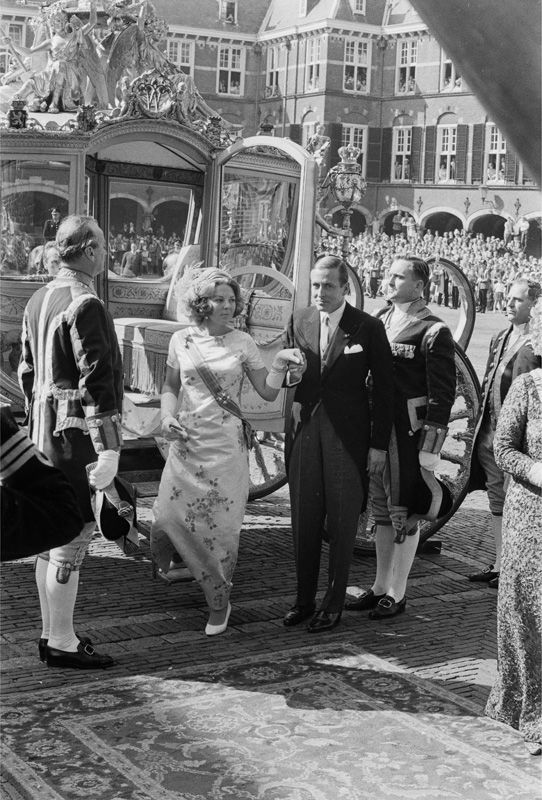 Queen Beatrix of The Netherlands and her husband, Prince Claus