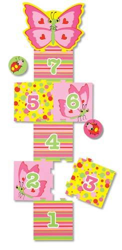 Bella Butterfly Hopscotch p make yourself from sponge tiles... just repaint!