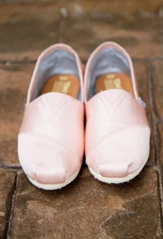 {ballerina pink toms} good wedding shoes (party down)