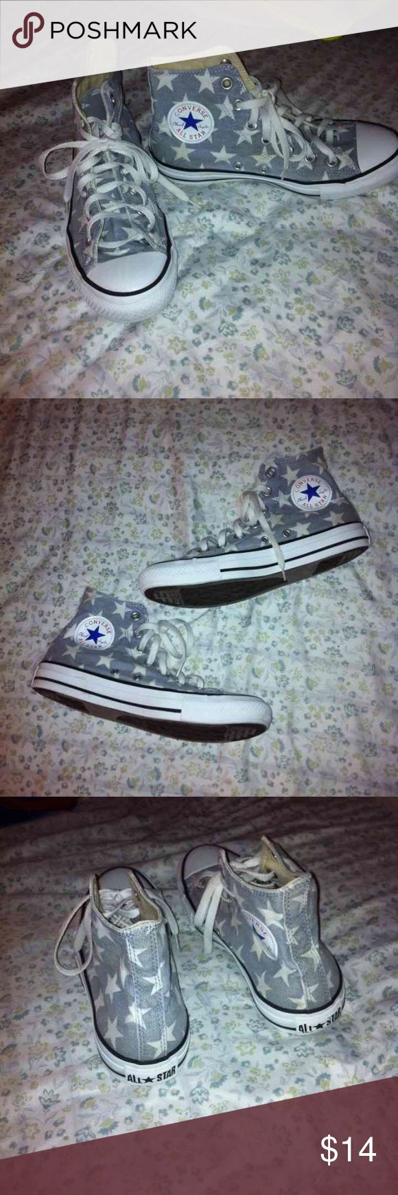 Ladies Converse Allstars Hi-tops used condition. These are used and have some dirty marks on them. Should be able to get out, barely noticeable unless you're inspecting. Really cute, have a lot of life left Converse Shoes Sneakers