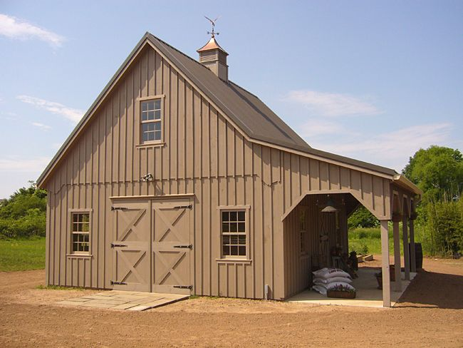I dream about a good horse barn about as much as I dream about a home.