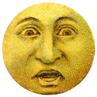 Moon Image – Vintage Man in Moon