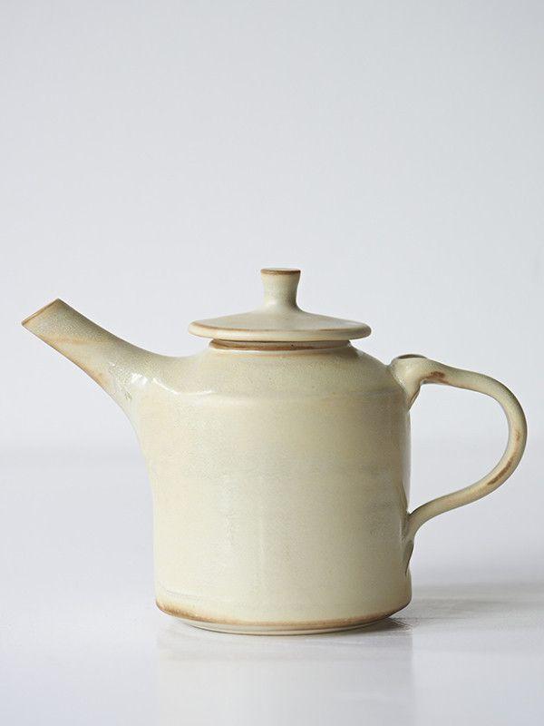 Tea or Oil Pot Off White Gloss