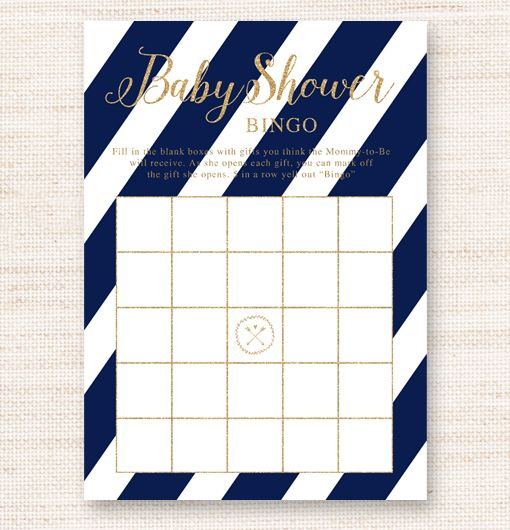 birthstone rings Instant Download Printable    x    jpeg with two   x   games lined up Just print and cut Have the guests fill in the gifts they think the mommy to be will receive As she opens each gift the guest can mark off their item Five in a row wins a prize Navy Blue Nautical White Gold Glitter Sparkle Baby Shower Bingo Game