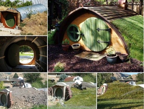 Diy hobbit hole backyards hobbit hole and hobbit for Hobbit house furniture