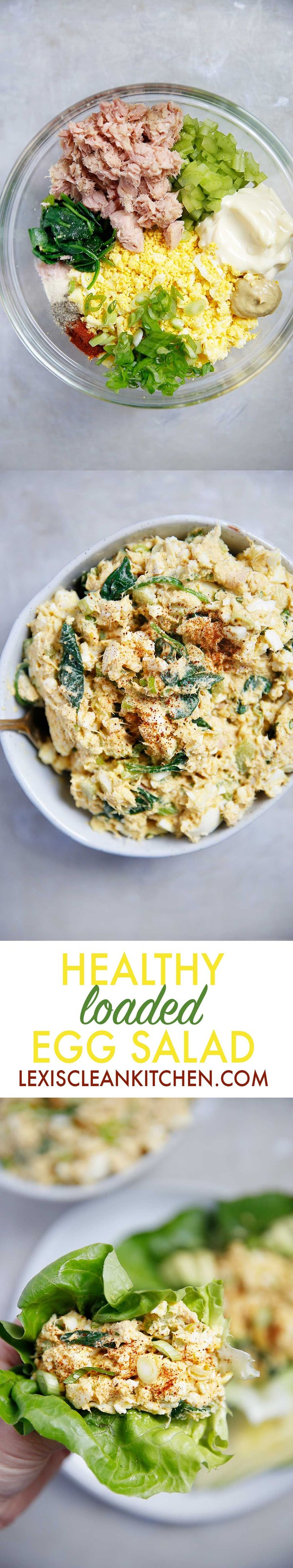 Loaded Egg Salad with Tuna {Paleo-friendly, gluten-free, grain-free, dairy-free, and low-carb} | Lexi's Clean Kitchen