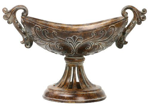 Sterling Composite Fortress Decorative Bowl On Stand Brown Gold See This Awesome Image Home Decorative Accessories