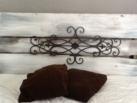 Reclaimed Wrought Iron headboard by Reclaimvintagecharm on Etsy, $190.00