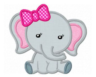 Elephant Baby Applique Machine Embroidery by LovelyStitchesDesign