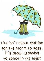Rainy Day Saying