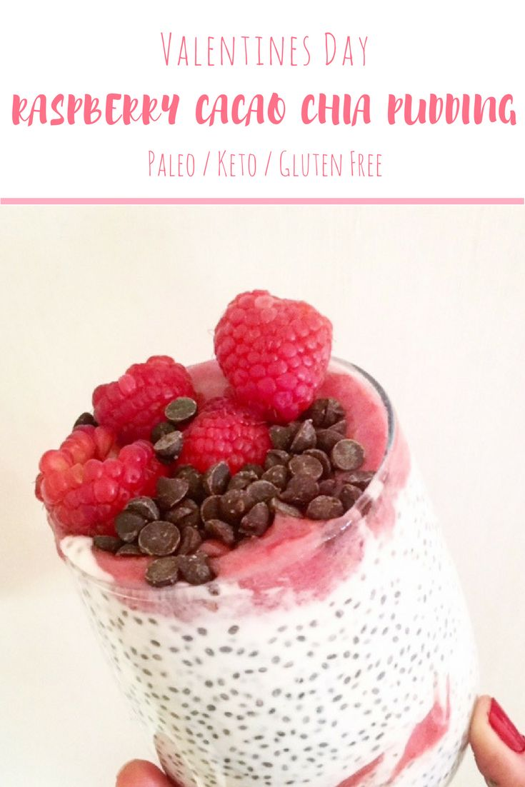 This paleo / keto chia pudding recipe if packed with nutrients and super easy to make! Full recipe at BlondeBeetNirvana.com #Valentinesday #valentinesdaytreats #cleaneating #paleo #keto #lowcarb #recipes