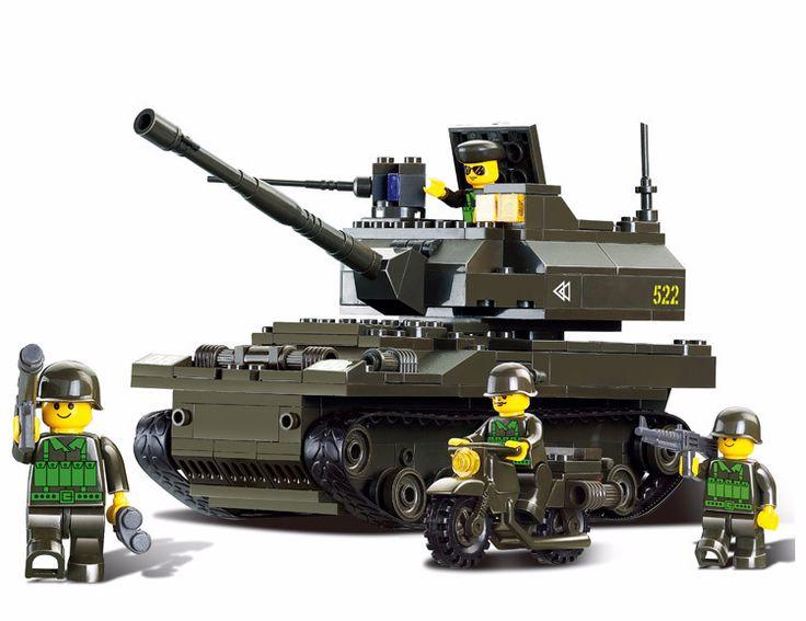 Building Block Army Battle Tank Soldiers Military Bricks Minifigure Toys Set