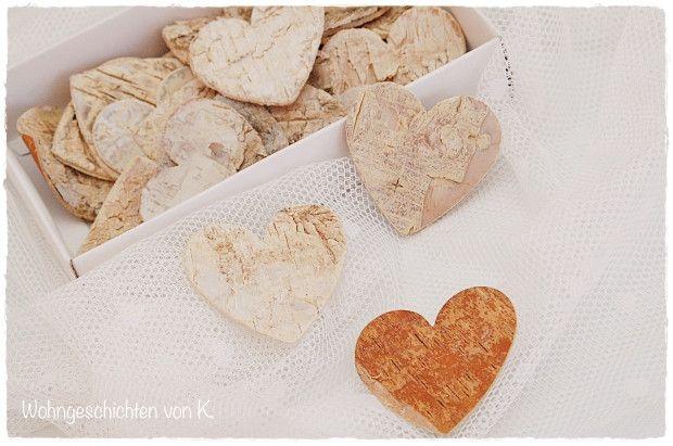 Streudeko+Herzen+Birke+Hochzeit+Landhaus+Shabby+von+Wohngeschichten+von+K.+auf+DaWanda.com