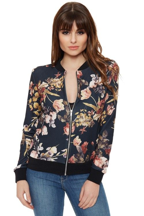 1000  ideas about Floral Bomber Jacket on Pinterest | Floral
