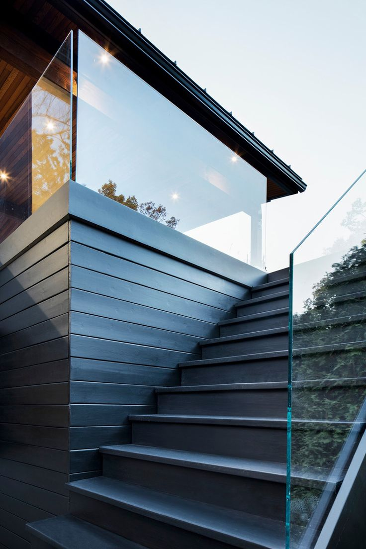 The Du Tour Residence In Laval, Canada, Designed By Architecture Open Form  And Interior. Exterior StairsOutdoor StairsModern ...