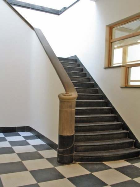 Historic stairs at the Leiden Law School