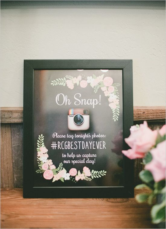 Wedding sign ideas - Chalkboard instagram sign @weddingchicks