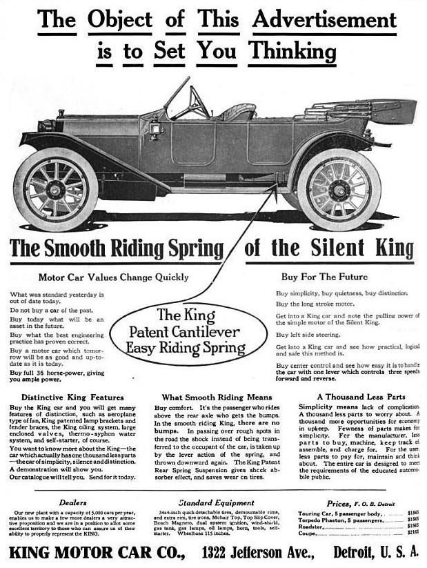 17 Best Images About King Motor Car Ads On Pinterest